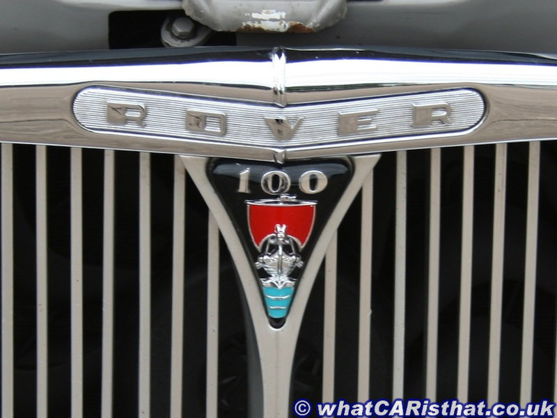 Rover P4 100 Grille Badge